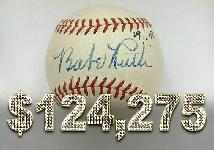 Babe Ruth autographed baseball - $124,275