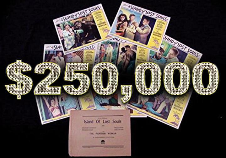Island of Lost Souls Mint Lobby Card set - $250,000