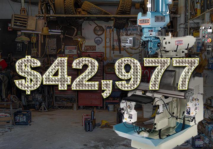 Baileigh VM-1054-3 Vertical Milling Machine - $42,977