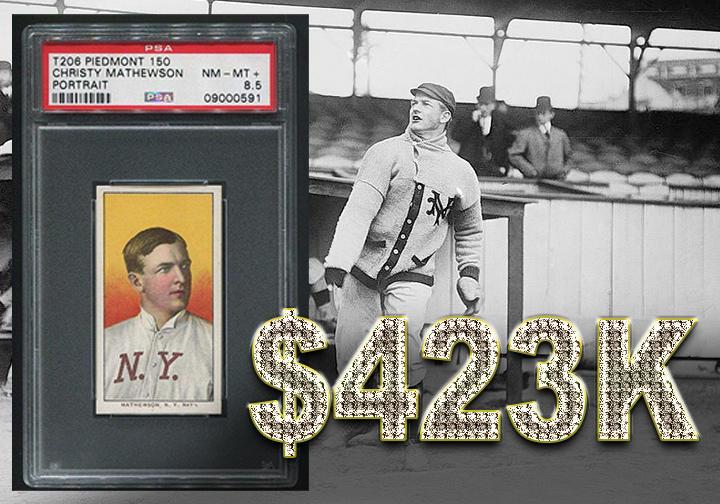 Christy Mathewson baseball card - $423,070