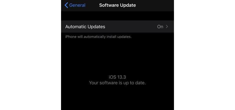 Make sure iOS automatic updates are enabled