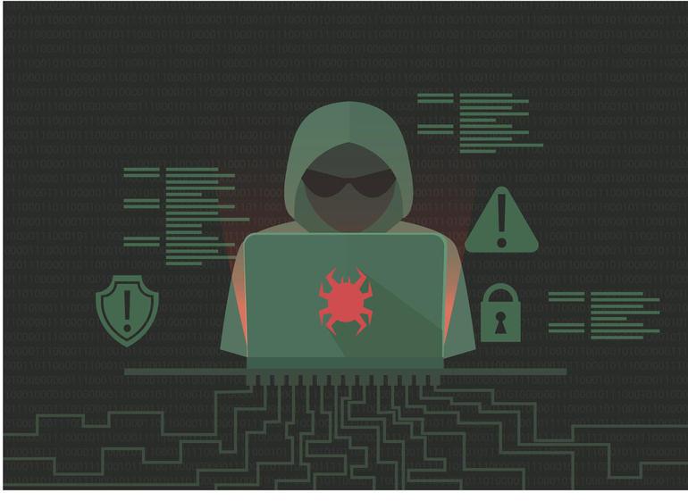 Hacker activity banner. Programmer writes viruses and hacks. Dos attack.