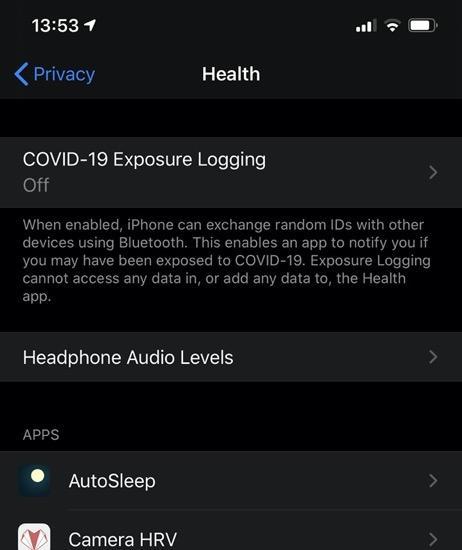 COVID-19 Exposure Logging
