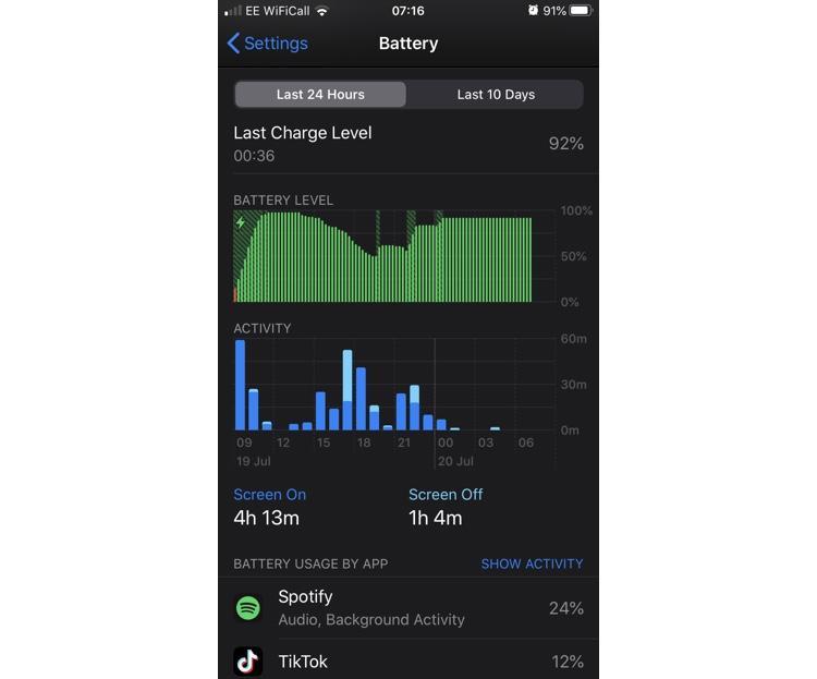 Overnight iPhone battery drain - post-fix