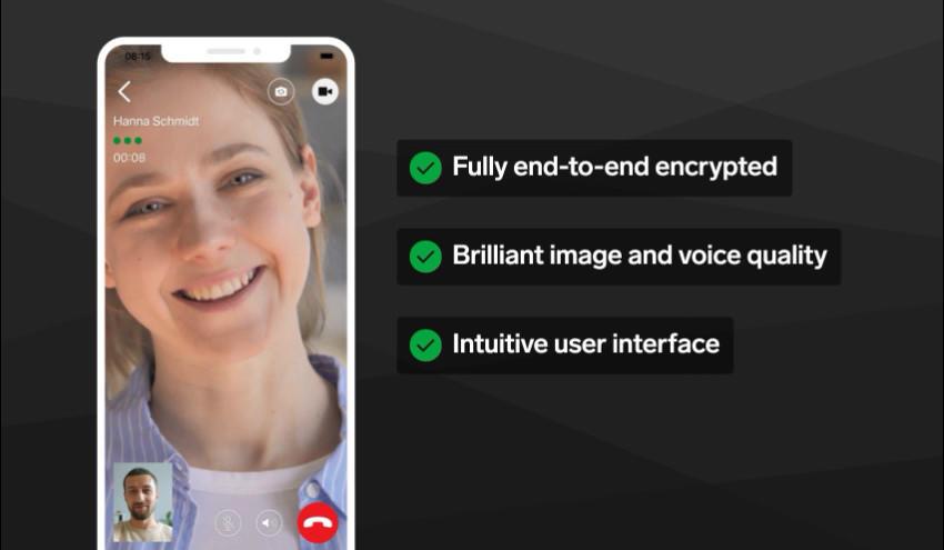 Threema E2E video calls