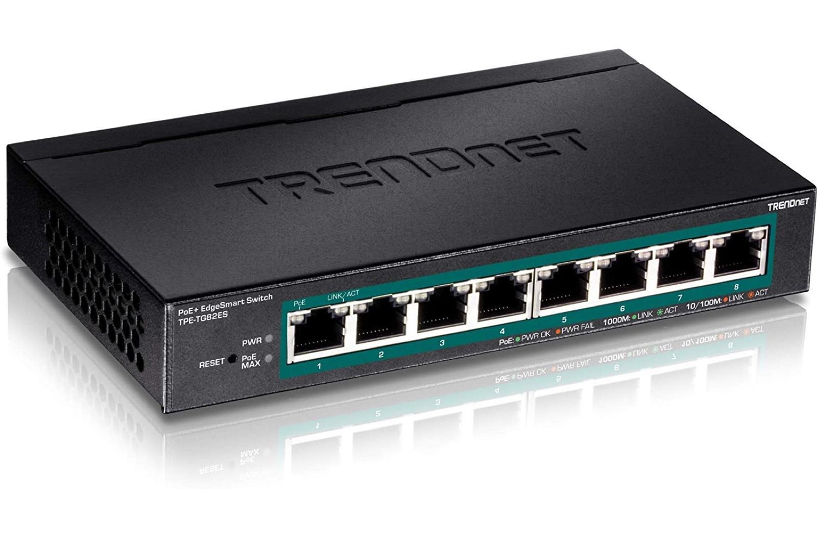TRENDnet 8-Port Gigabit EdgeSmart PoE+ Switch