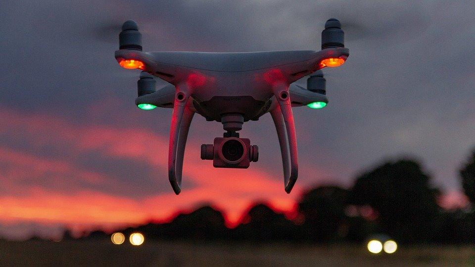 Flying Sky Red Landscape Drone Sunset Dji