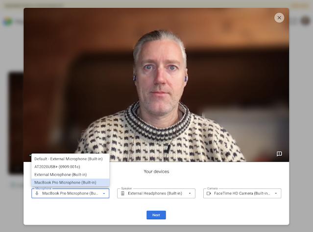 Google Meet: Vérifiez vos paramètres vidéo avant un appel