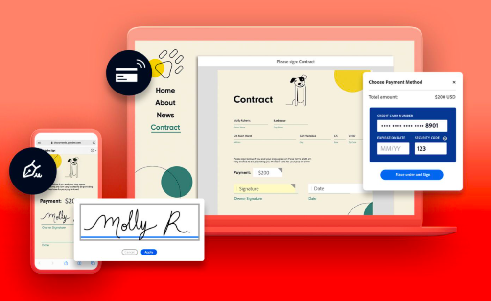 Adobe: La signature électronique se développe dans Acrobat