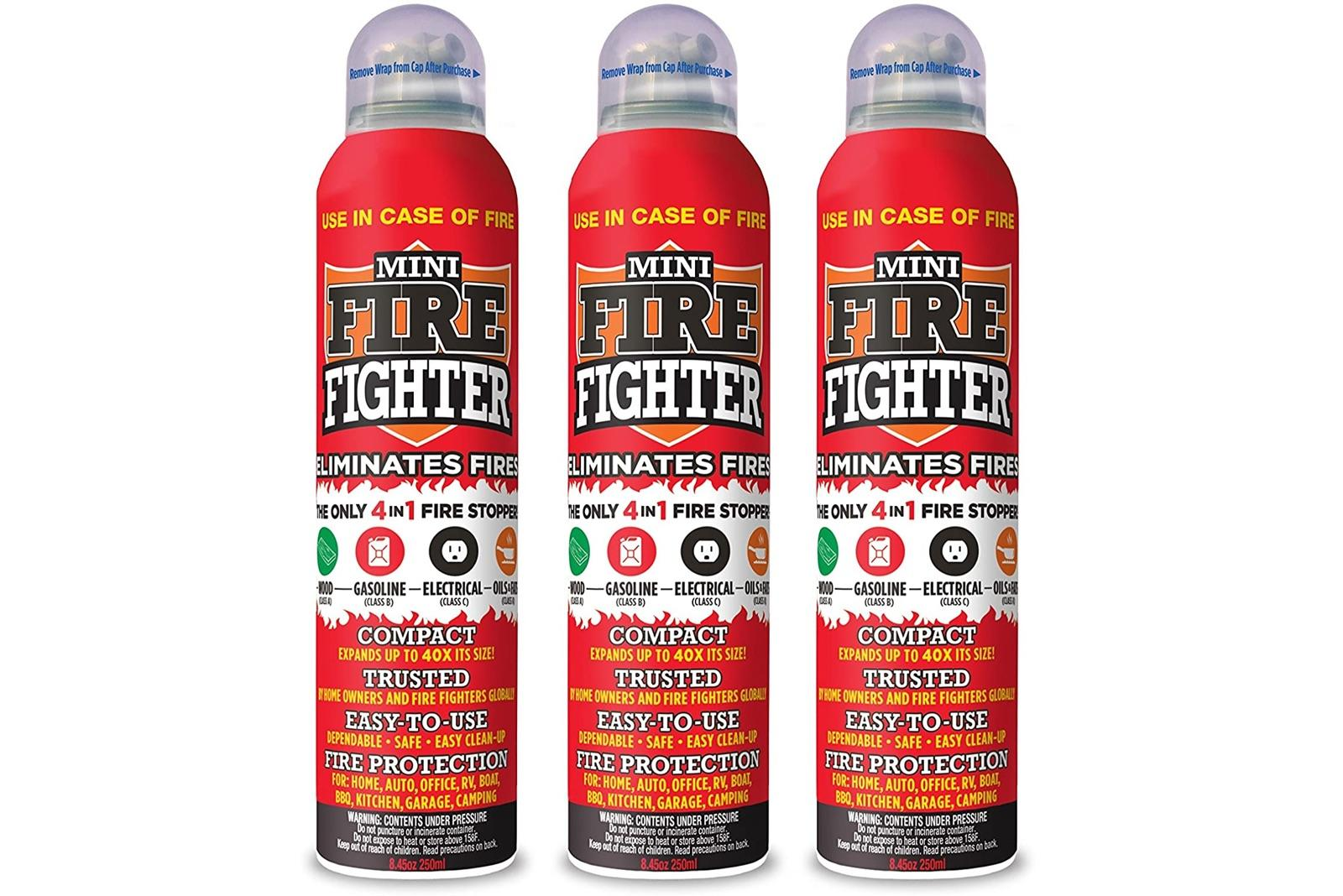 Mini Firefighter multi purpose 4-in-1 fire extinguisher (3-pack)