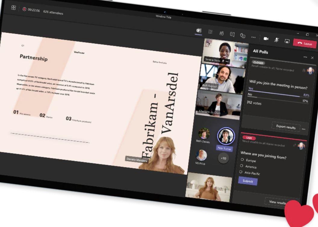 Microsoft Teams facilite l'organisation de webinaires