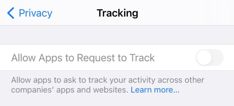App Tracking Transparency feature greyed out even after updating to iOS 14.5.1.