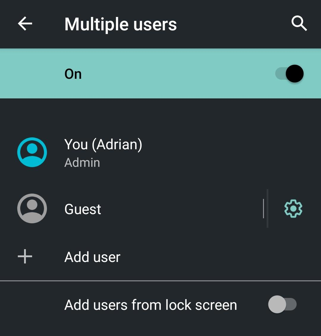 Guest Mode on Android