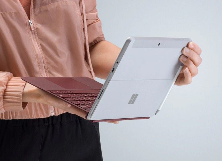 With Surface Go, Microsoft heads downward