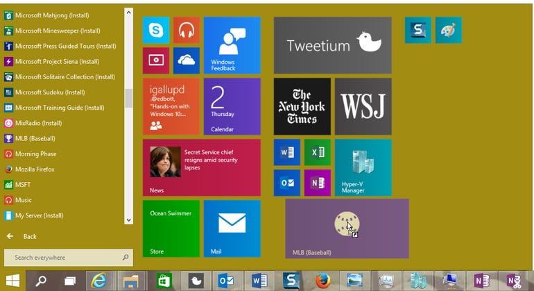 The Windows 10 Start menu blends old and new