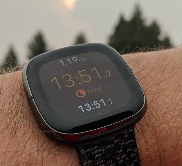 Slow run in smoky conditions