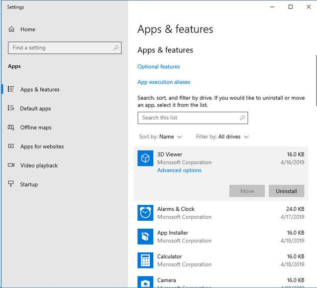 Most (but not all) Windows 10 apps can be uninstalled
