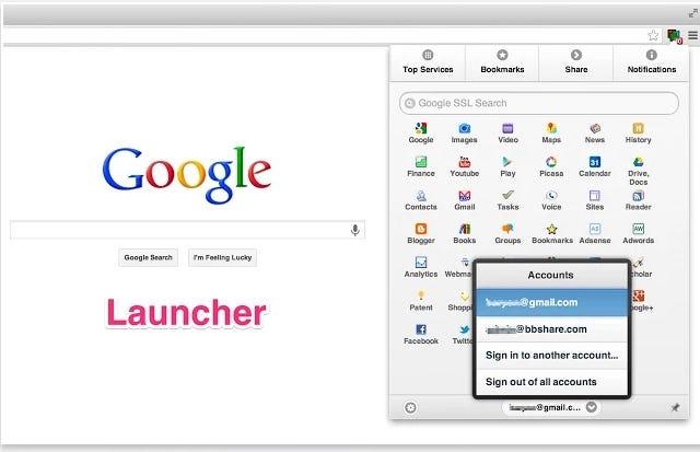 Google Multi-Account Launcher Plus