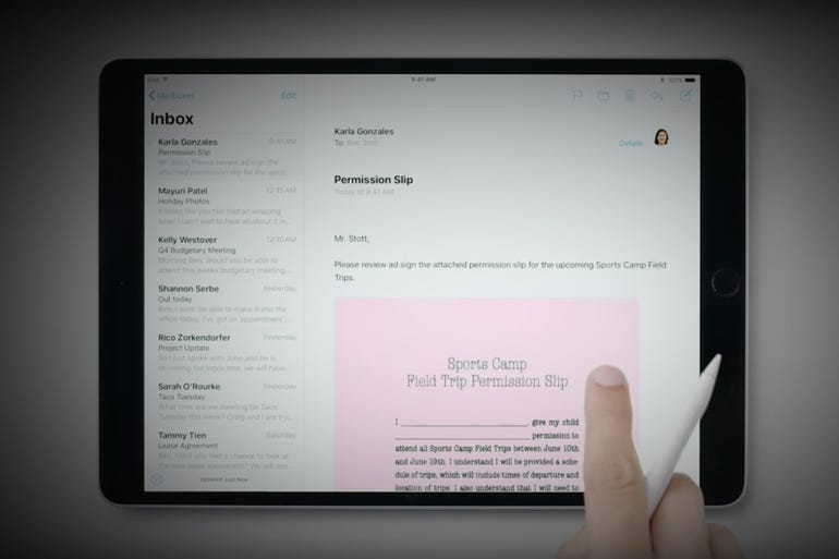 Apple Pencil: In-line markup