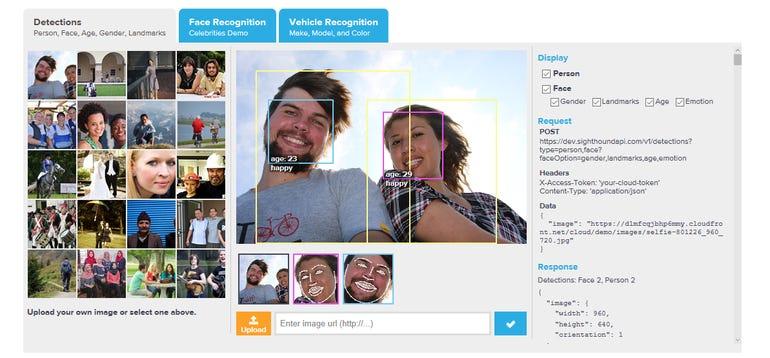 Sighthound Cloud brings accuracy to emotion and gender detection ZDNet