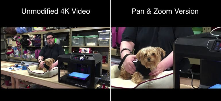 Using iPhone 4K video to provide operator-free pan and zoom