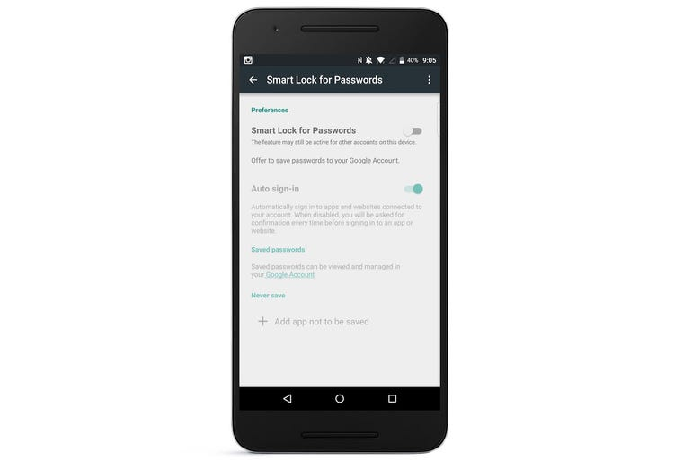 5. Prevent passwords from being uploaded to Google