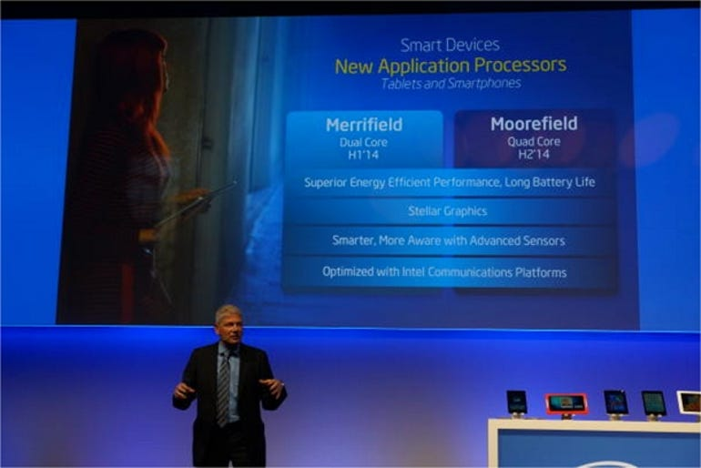 Intel unveils new Merrifield and Moorefield Atom chips.