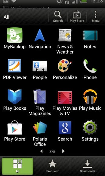Installed apps and services, 3/5