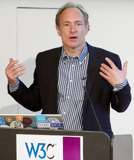 Tim Berners-Lee is helping with the development of the web