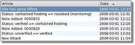Phishing site take down service Netcraft