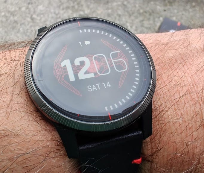 Tie fighter watch face and inspired bezel