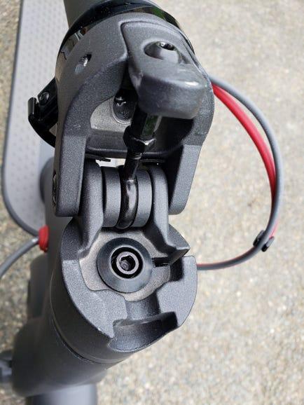 Folding mechanism in folded mode