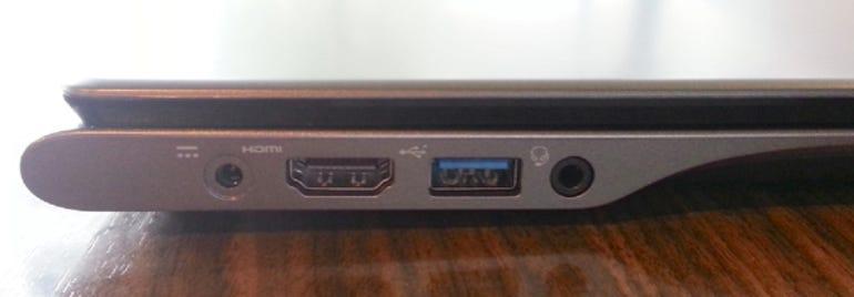 Acer C720 Chromebook left side