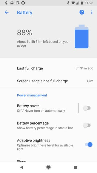 Use Android's built-in power-saving utilities