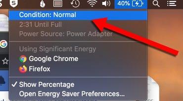 Mac battery health.