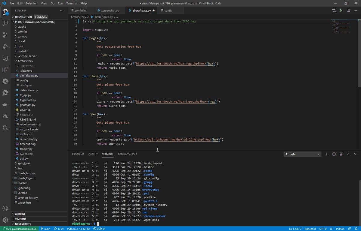 Remote editing on a Raspberry Pi using Visual Studio Code