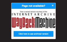 Google Chrome gets Wayback Machine extension: End to the pain of 404 errors?