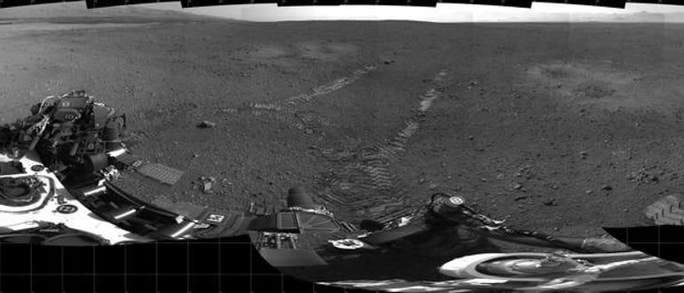 Curiosity's track marks