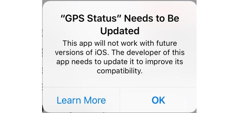 Hidden iOS 10.3 feature highlights apps that could soon stop working