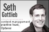 Seth Gottlieb, CMS lead, Optaros