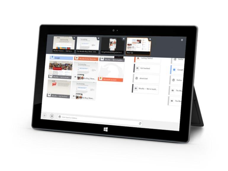 Firefox for Windows 8 Touch screenshot