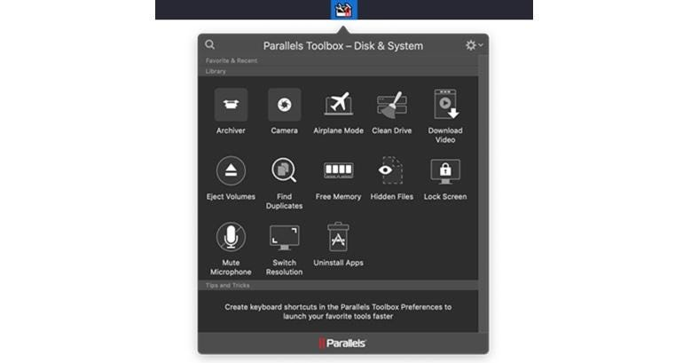 Option 4: Parallels Toolbox Disk and System Pack