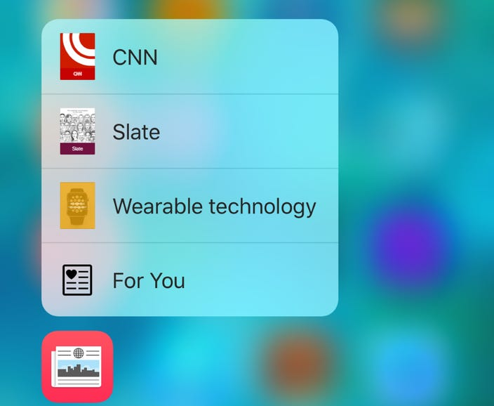 3D Touch for Apple News