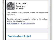 Apple releases iOS 7.0.6 with security connection fix