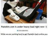 Pastebin under DDoS attacks