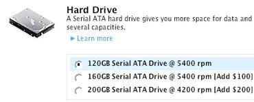 Apple's new 200GB HDD