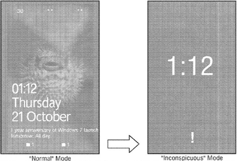 microsoft inconspicuous patent smartphones mobile devices
