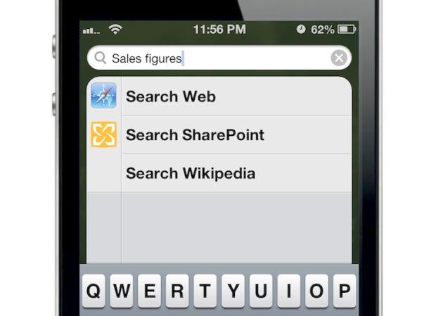 Custom domain search in Spotlight