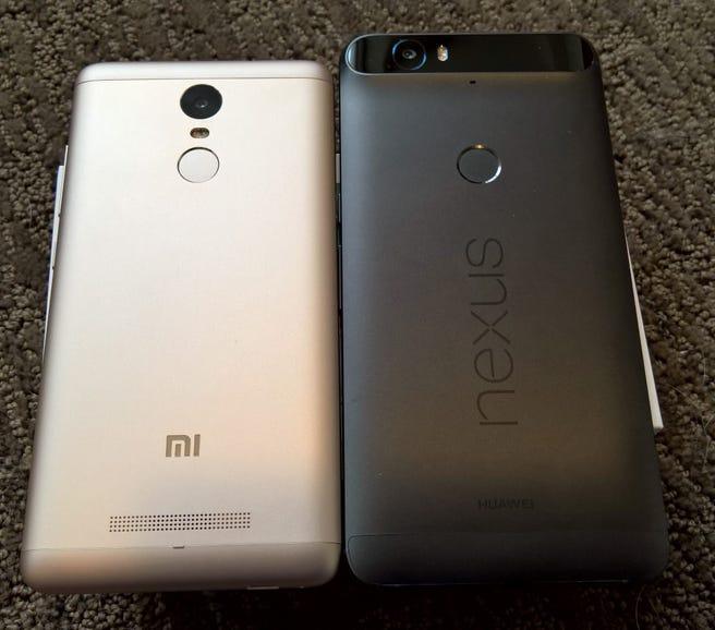 Xiaomi Redmi Note 3 vs Huawei Nexus 6P