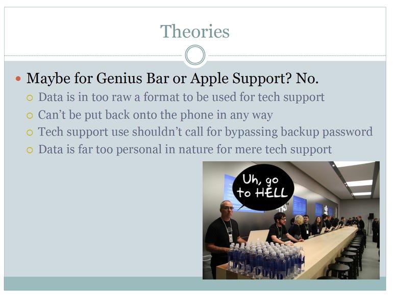 Zdziarski Theory: Backdoors aren't for Genius Bar or Apple support - Jason O'Grady